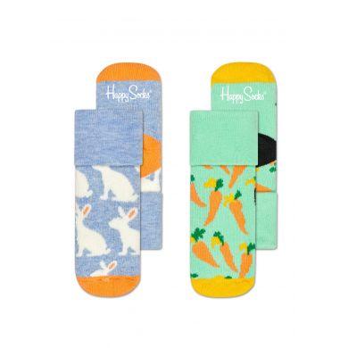 Detské ponožky Happy Socks pre miminká, vzor Bunny - dva páry