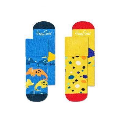 Detské ponožky Happy Socks pre miminká, vzor Dinosaur - dva páry