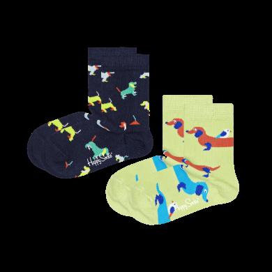 Detské ponožky Happy Socks so psíkmi, vzor Dogs - 2 páry