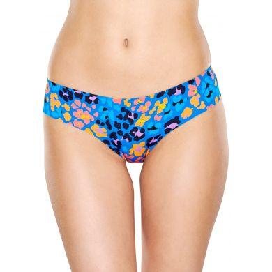 Modré cheeky nohavičky Happy Socks s leopardím vzorom, vzor Leopard