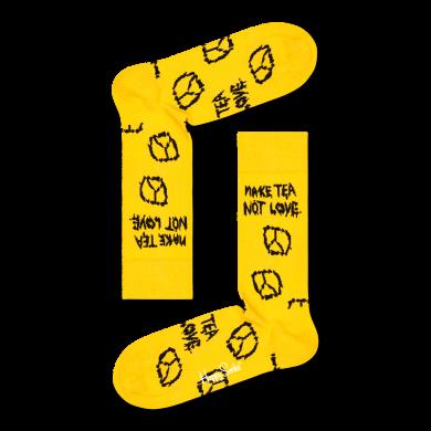 Žlté ponožky Happy Socks x Monty Python, vzor Hells Grannies