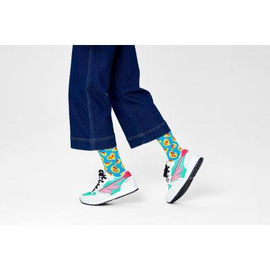 Modré ponožky Happy Socks, vzor Pizza Love