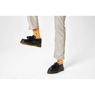 Žlté ponožky Happy Socks so sardinkami, vzor Sardines In A Tin