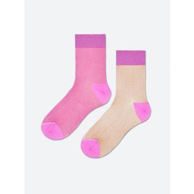 Dámske ružovo-telové ponožky Happy Socks Filippa // kolekcia Hysteria