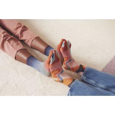 Dámske oranžovo-modré ponožky Happy Socks Mia // kolekcia Hysteria