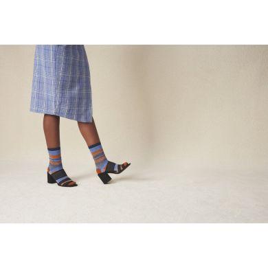 Dámske hnedo-modré ponožky Happy Socks Myggan // kolekcia Hysteria