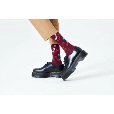 Hnedé ponožky Happy Socks s telefónnym sluchátkom, vzor Stay In Touch
