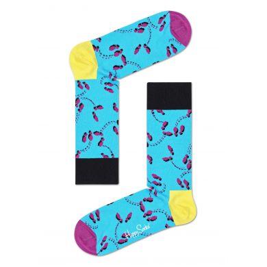 Čierno-ružové ponožky Happy Socks x Tap Dance by Tomáš Slavíček, vzor Dancer