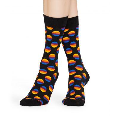 Čierne ponožky Happy Socks, vzor Sunriso Dot