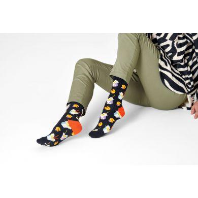 Čierne ponožky Happy Socks, vzor Take Out