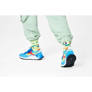 Zeleno-modré ponožky Happy Socks, vzor Walk In The Park