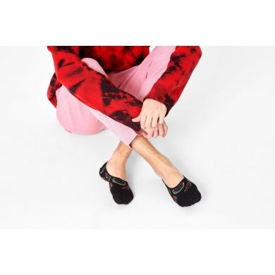 Čierne nízke ponožky Happy Socks s melónmi, vzor Watermelon