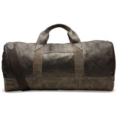 Černá kožená cestovní taška TOMS