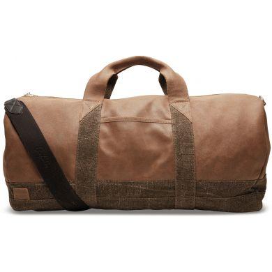 Hnědá kožená cestovní taška TOMS