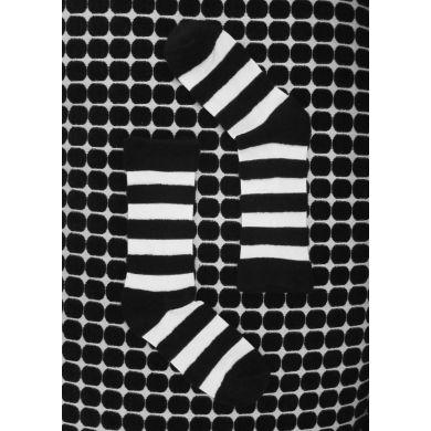 Černobílé pruhované ponožky Happy Socks // kolekce Special Special