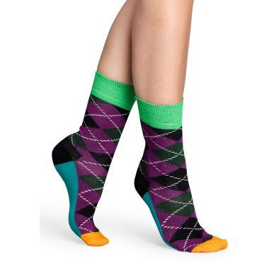 Barevné ponožky Happy Socks s károvaným vzorem Argyle - M-L (41-46)