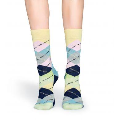 Pastelové ponožky Happy Socks s károvným vzorom Argyle
