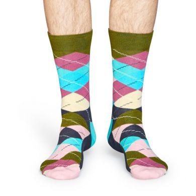 Staroružové ponožky Happy Socks s károvaným vzorom Argyle