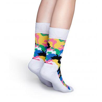 Farebné ponožky Happy Socks s maskáčom, vzor Bark // kolekcia Athletic
