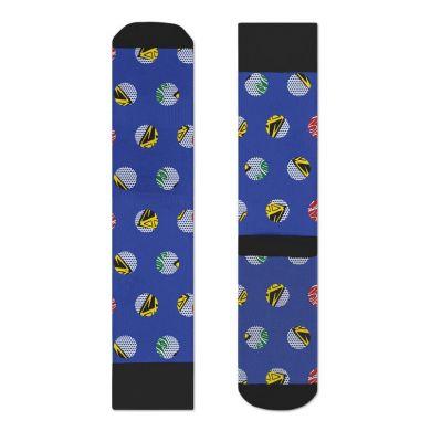 Modré ponožky Happy Socks s farebným vzorom Diamonds & Dollars X Billionaire Boys Club