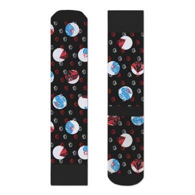 Čierne ponožky Happy Socks s helmami a farebným vzorom Diamonds & Dollars X Billionaire Boys Club