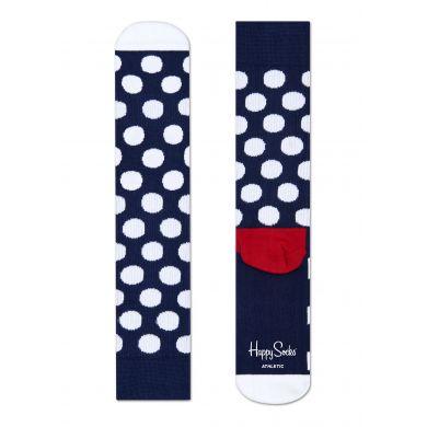Modré ponožky Happy Socks s bílými puntíky, vzor Big Dot // kolekce Athletic