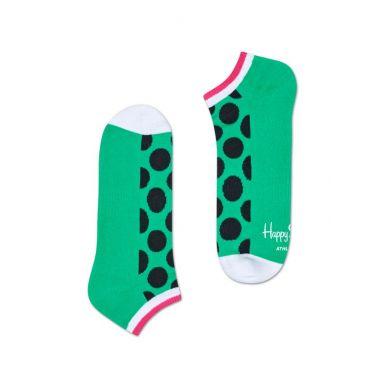 Nízke farebné ponožky Happy Socks s bodkami, vzor Big Dot // kolekcia Athletic