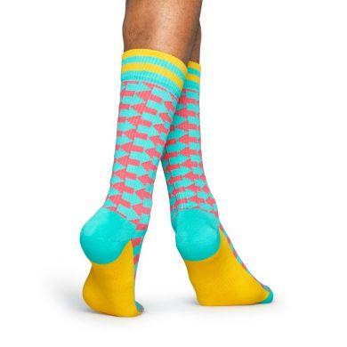 Tyrkysové ponožky Happy Socks s červenými šípkami, vzor Direction // kolekcia Athletic