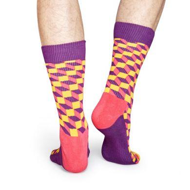Farebné ponožky Happy Socks se vzorom Filled Optic // kolekcia Athletic