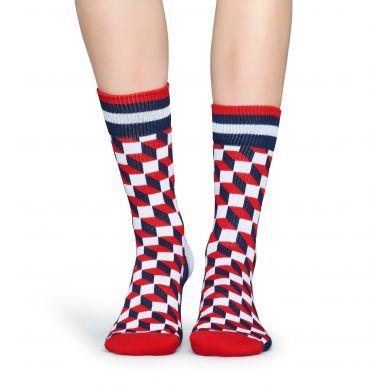 Farebné ponožky Happy Socks so vzorom Filled Optic // kolekcia Athletic