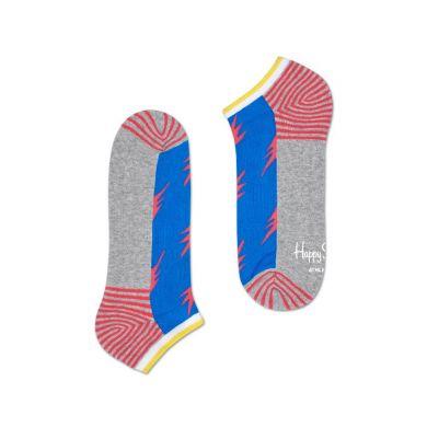 Nízke farebné ponožky Happy Socks s bleskami, vzor Flash // kolekcia Athletic
