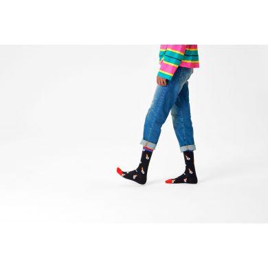 Čierne ponožky Happy Socks, vzor I See You // KOLEKCIA ATHLETIC