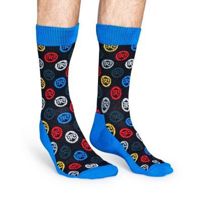 Barevné ponožky Happy Socks Logo // kolekce Royal Enfield
