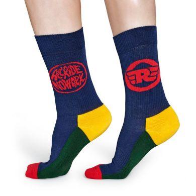 Barevné ponožky Happy Socks, vzor Logo // kolekce Athletic + Royal Enfield