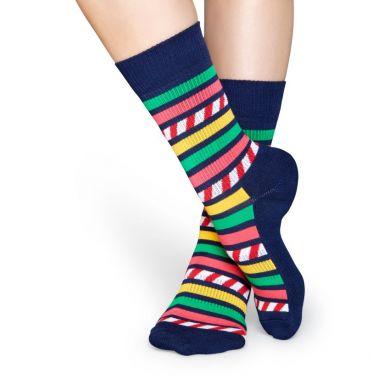 Farebné pruhované ponožky Happy Socks, vzor Stripes and Stripes // kolekce Athletic