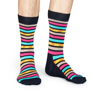 Farebné ponožky Happy Socks s prúžkami, vzor Stripes Stripes // kolekcia Athletic