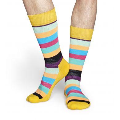 Barevné pruhované ponožky Happy Socks, vzor Stripe // kolekce Athletic