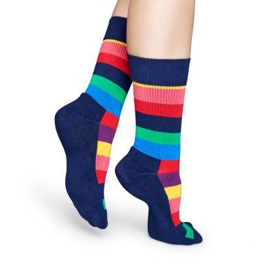 Barevné pruhované ponožky Happy Socks, vzor Stripes // kolekce Athletic