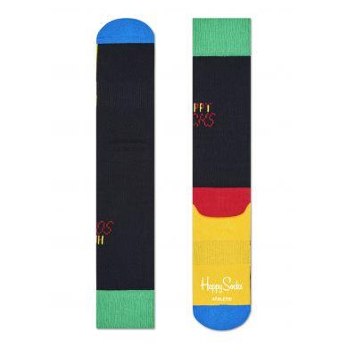 Barevné ponožky Happy Socks Tennis s černým základem // kolekce Athletic