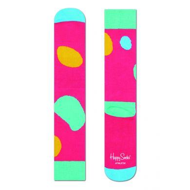 Růžové ponožky Happy Socks s barevným vzorem Terry // kolekce Athletic