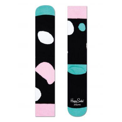 Černé ponožky Happy Socks s barevným vzorem Terry // kolekce Athletic