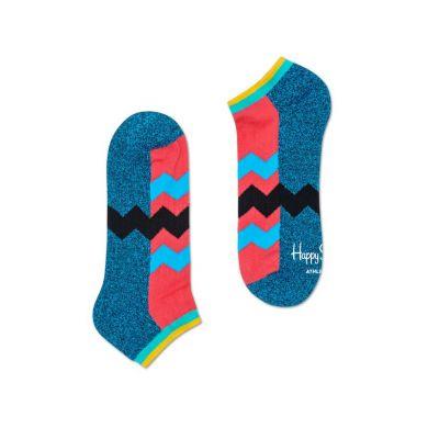 Nízke farebné ponožky Happy Socks so zubatými pruhmi, vzor ZigZag Stripes // kolekcia Athletic