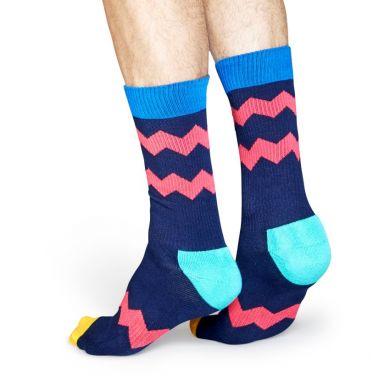 Farebné ponožky Happy Socks so zubatými pruhmi, vzor ZigZag Stripes // kolekcia Athletic