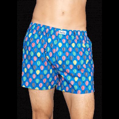 Modré trenírky Happy Socks s farebným vzorom Baloon