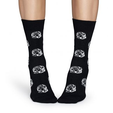 Černé ponožky Happy Socks se vzorem Astronaut // kolekce Billionare Boys Club