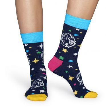 Modré ponožky Happy Socks s vesmírným vzorem Space // kolekce Billionare Boys Club