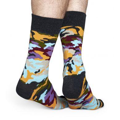Barevné ponožky Happy Socks s maskáčovým vzorem Bark