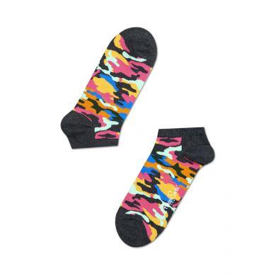 Nízke farebné ponožky Happy Socks s maskáčovým vzorem, vzor Bark