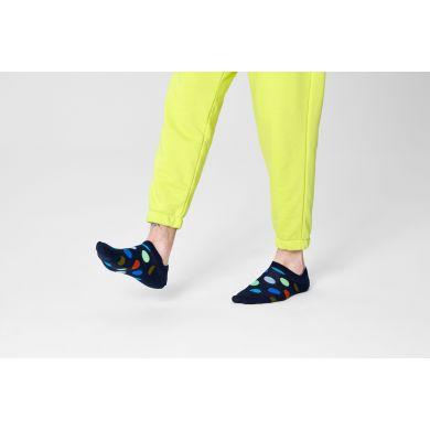 Modré nízke ponožky Happy Socks s bodkami, vzor Big Dot