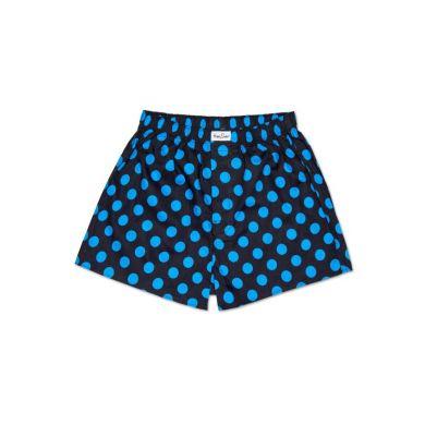 Modré trenírky Happy Socks s tyrkysovými bodkami, vzor Big Dot